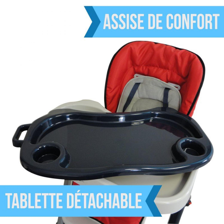 miniature 51 - MONSIEUR BEBE ® CHAISE HAUTE ENFANT PLIABLE RÉGLABLE HAUTEUR DOSSIER ET