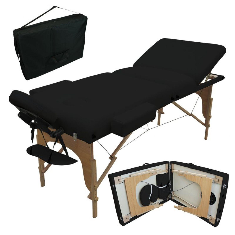 VIVEZEN-TABLE-DE-MASSAGE-13-CM-PLIANTE-3-ZONES-EN-BOIS-Pliable-Portable miniature 16