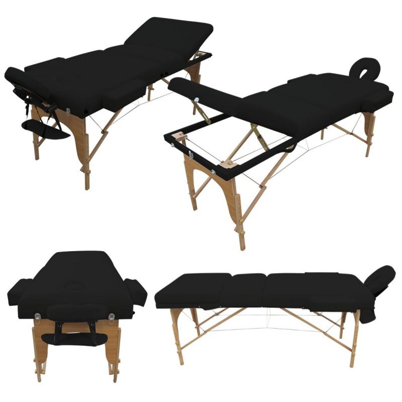 VIVEZEN-TABLE-DE-MASSAGE-13-CM-PLIANTE-3-ZONES-EN-BOIS-Pliable-Portable miniature 15
