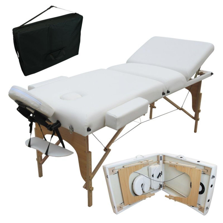 VIVEZEN-TABLE-DE-MASSAGE-13-CM-PLIANTE-3-ZONES-EN-BOIS-Pliable-Portable miniature 9