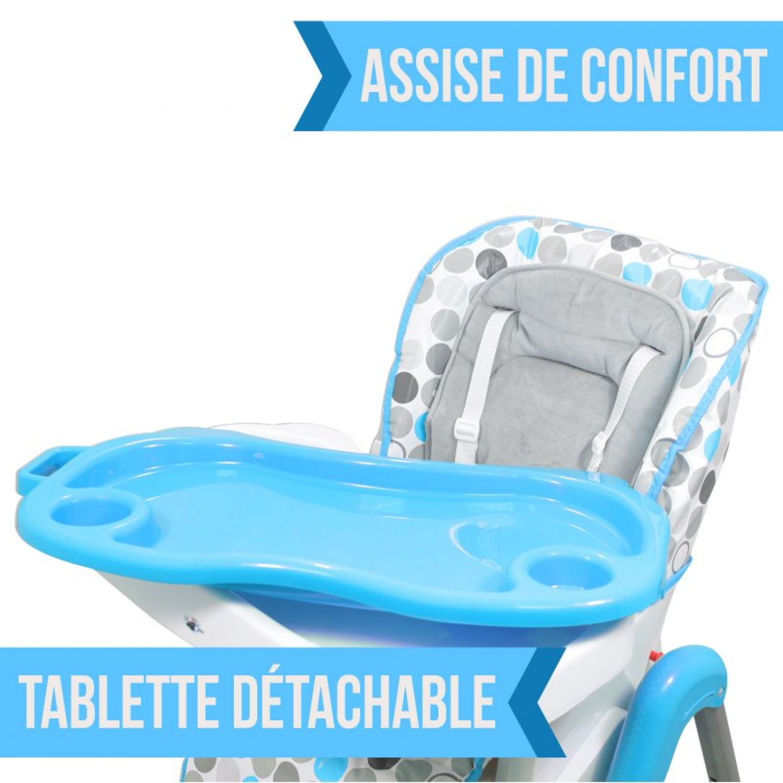 miniature 7 - MONSIEUR BEBE ® CHAISE HAUTE ENFANT PLIABLE RÉGLABLE HAUTEUR DOSSIER ET