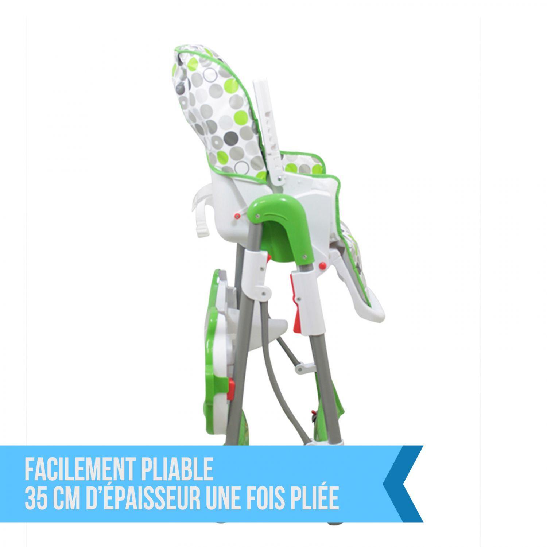 miniature 58 - MONSIEUR BEBE ® CHAISE HAUTE ENFANT PLIABLE RÉGLABLE HAUTEUR DOSSIER ET