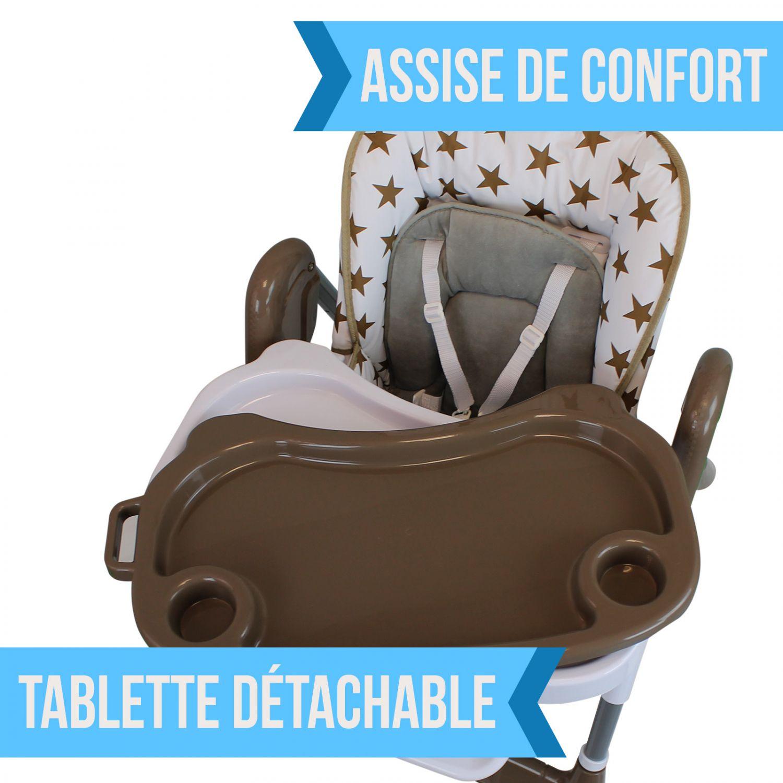 miniature 29 - MONSIEUR BEBE ® CHAISE HAUTE ENFANT PLIABLE RÉGLABLE HAUTEUR DOSSIER ET