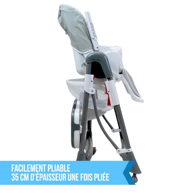 miniature 14 - MONSIEUR BEBE ® CHAISE HAUTE ENFANT PLIABLE RÉGLABLE HAUTEUR DOSSIER ET