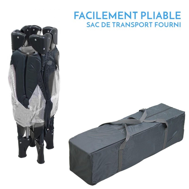 miniature 8 - MONSIEUR BÉBÉ ® PARC PLIABLE 90CM X 90CM + MATELAS / Pliant Parapluie Voyage