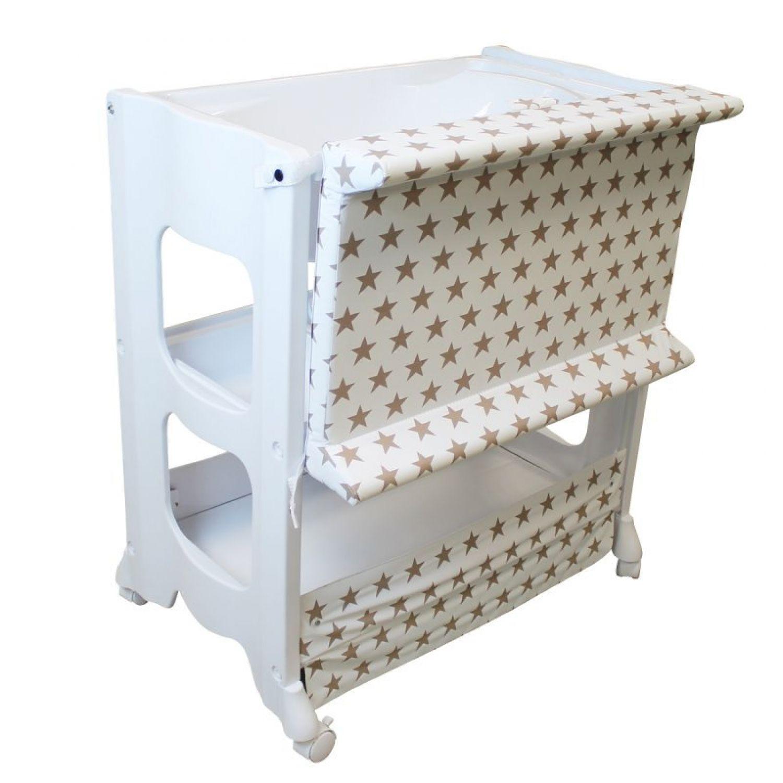 miniature 14 - MONSIEUR BÉBÉ ® TABLE À LANGER AVEC BAIGNOIRE INTÉGRÉE ET RANGEMENTS /