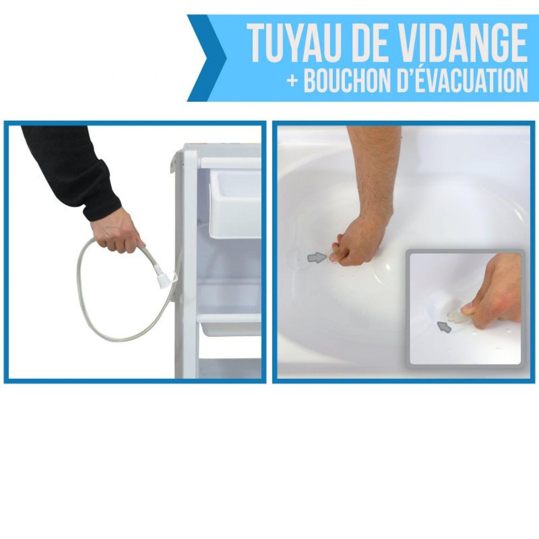 miniature 5 - MONSIEUR BÉBÉ ® TABLE À LANGER AVEC BAIGNOIRE INTÉGRÉE ET RANGEMENTS /