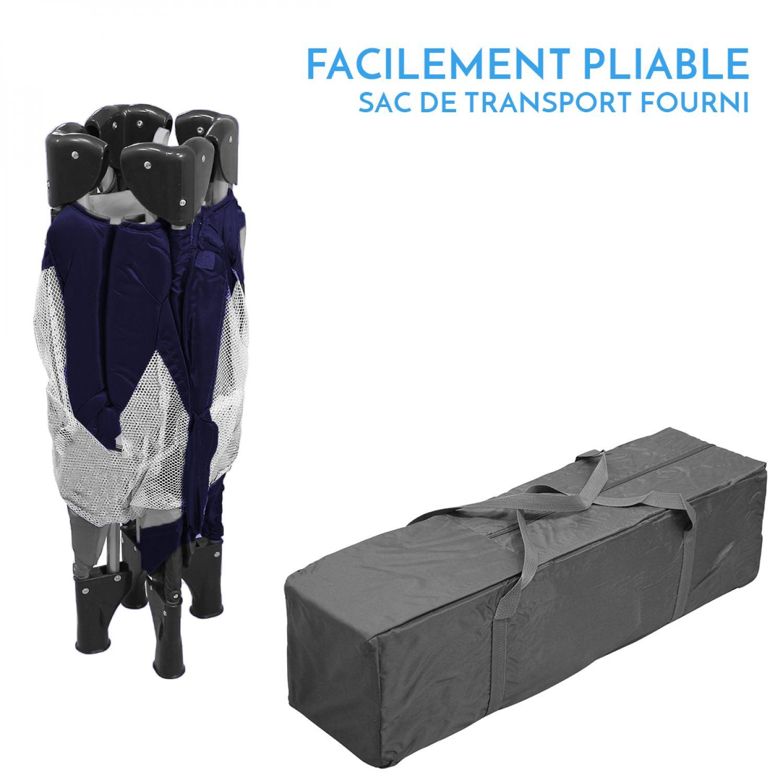 miniature 35 - MONSIEUR BÉBÉ ® PARC PLIABLE 90CM X 90CM + MATELAS / Pliant Parapluie Voyage