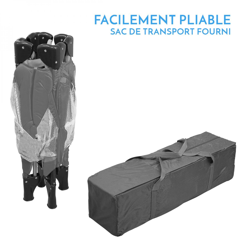 miniature 15 - MONSIEUR BÉBÉ ® PARC PLIABLE 90CM X 90CM + MATELAS / Pliant Parapluie Voyage